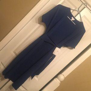 LulaRoe solid navy marly pockets dress